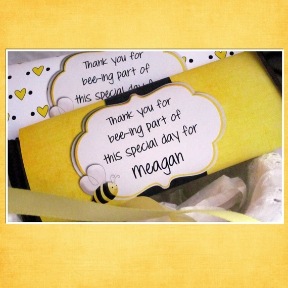 Bee Baby Shower Candy Bar Wrapper