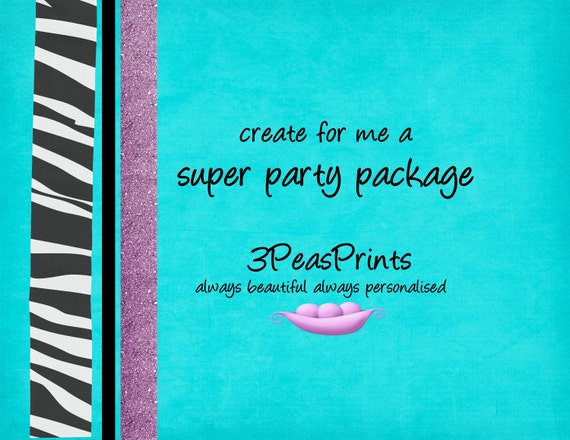 Birthday Party Super Package Printable - Custom and Personalized - You Print