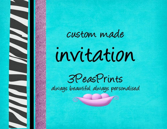 Custom Birthday Party Baby or Bridal Shower Invitation Printable