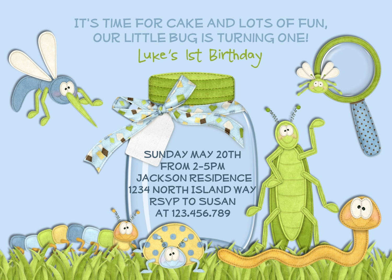 Bug Birthday Invitation Boy Birthday Invitation Bug Party – Insect Birthday Invitations