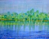 Soft Rain, original handpainted acrylic on canvas
