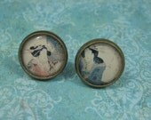 TURNING JAPANESE vintage lovely ladies stud earrings by Crazy Daisy Rocks