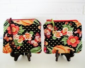 Spring Flowers and Polka Dots Purse