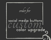 Customize Your Blog Design: Custom Color Upgrade For Social Media Buttons