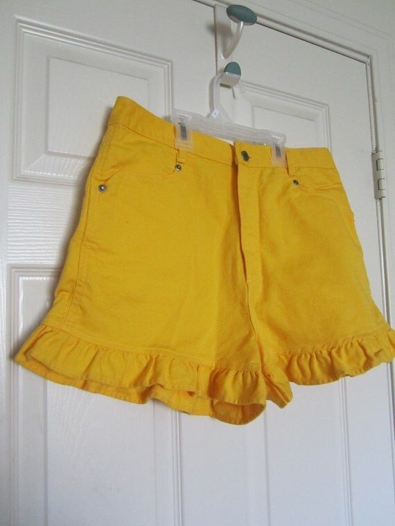 Daisy Bonjour Ruffled High Waisted Shorts - L