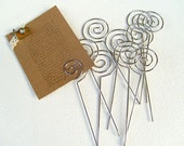 10-Pcs Swirl Shaped Wire Memo Holder Clip(Medium), Sign Holder, Escort Card Display, Namecard Holder, Pick