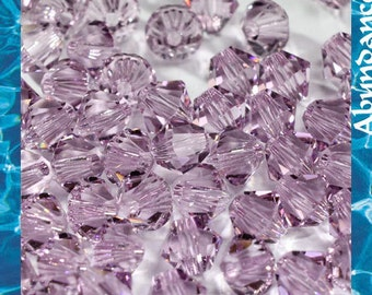 Swarovski Bicone Crystal Beads Xilion 5328 LIGHT AMETHYST - Available in 4mm, 5mm, 6mm and 8mm