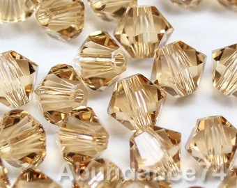 Swarovski Bicone Crystal Beads Xilion 5328 LIGHT COLORADO TOPAZ - Available in 3mm, 4mm, 5mm, 6mm and 8mm