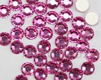 144 pcs Swarovski Crystal 2028 ss7 2.1mm Rhinestone Flatbacks, Non Hotfix - ROSE