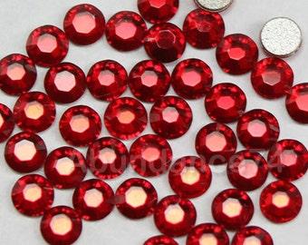 144 pcs Swarovski Crystal 2058 ss9 2.5mm Rhinestone Flatbacks, Non Hotfix - Light Siam
