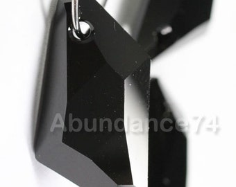 1 piece Swarovski elements crystal pendant De-Art 6670 JET Black- Available in 18mm and 24mm