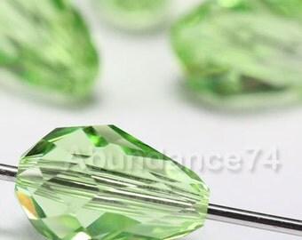 6 pcs 5500 Swarovski Elements Teardrop Crystal 9mm Faceted Loose Beads - PERIDOT