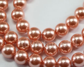 100 pcs Swarovski Crystal Pearl 3mm 5810 Round Ball Pearl - Color : Rose Peach