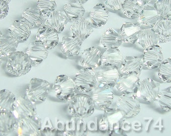 Swarovski Bicone Crystal Beads Xilion 5328 CLEAR - Available in 3mm, 4mm, 5mm, 6mm and 8mm