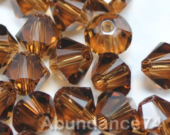 Swarovski Bicone Crystal Beads Xilion 5328 SMOKED TOPAZ - Available in 3mm, 4mm, 5mm and 6mm