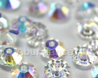 24 pcs Swarovski Elements - Swarovski Crystal Beads 5305 5mm Spacer Beads - Crystal Clear AB