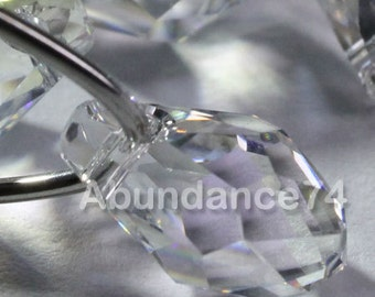 Chose Size and Quantity - Swarovski Elements Crystal Pendants 6007 7mm and 9mm Small Briolette MOONLIGHT