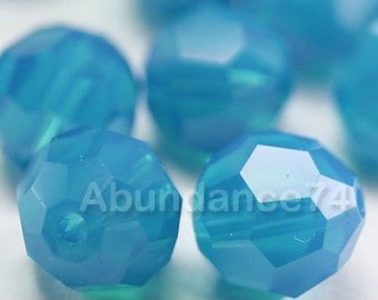 Swarovski Elements Crystal Beads 5000 Round Ball Beads CARRIBEAN BLUE OPAL - Available in 6mm and 8mm