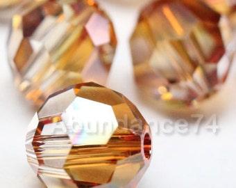 16 pcs Swarovski Elements - Swarovski Crystal Beads 5000 6mm Round Ball Beads - COPPER