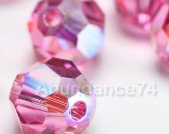 16 pcs Swarovski Elements - Swarovski Crystal Beads 5000 6mm Round Ball Beads - ROSE AB
