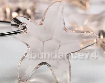 2pcs Swarovski Elements - Swarovski Crystal Pendant 6721 16mm Starfish Pendant - Silk