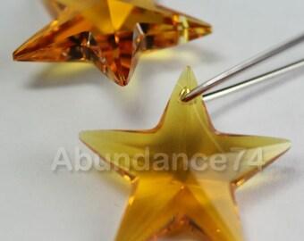 1pcs Swarovski Elements - Swarovski Crystal Pendant 6714 40mm Star Pendant - Topaz