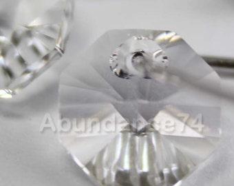 12pcs Swarovski Elements - Swarovski Crystal Pendant 6401 8mm Octagon Pendant - Crystal Clear