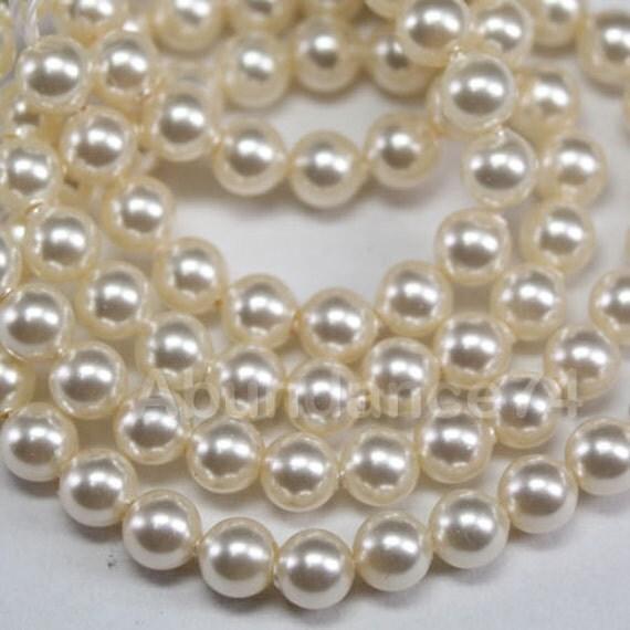 100 pcs Swarovski Crystal Pearl 6mm 5810 Round Ball Pearl - Color : Creamrose Light