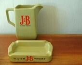 J And B Scotch Whisky Water Jug & Ash Tray