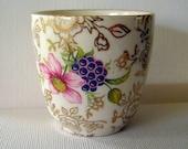Porcelain Cup Floral Hand-Painted, Old Foley Porcelain, James Kent Staffordshire, Chinarita 560, Gold Leaf   9