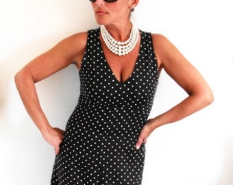 Dress Polka Dot  50s 60s Vintage Retro Stacy Ames Dress