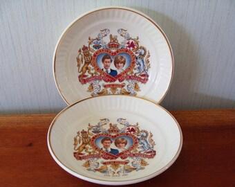 Porcelain Bowls Royalty Memorabilia Prince Charles and Princess Diana