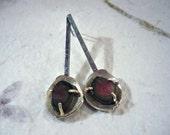Spoon watermelon tourmaline earrings