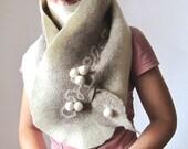 Finnish winter super warm long pompon scarf, OOAK