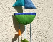baby's  room decoration (boat and fish)