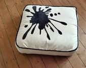 Floor Cushion with Ink Splat