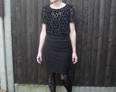 SALE SALE SALE- Velvet and Sheer Polka dot T-Shirt Size Small