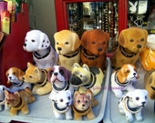 """Trays of Bobble Head Dogs  - Matted 4 x 6"""" Photo"""