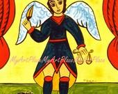 Postcards, St. Michael, Patron Saint of Children & Soldiers, Religious Icon, Christian, New Mexico Santo