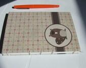 Cute Woodland Beaver Hand Bound Coptic Stitch Journal/Diary