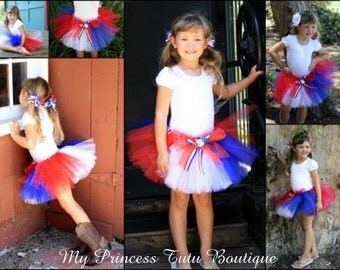 Red, white & blue tutu