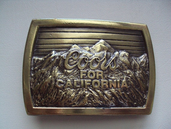 25% Off Free Shipping Vintage COORS FOR CALIFORNIA Exclusively Made For Coors Western Brass Belt Buckle