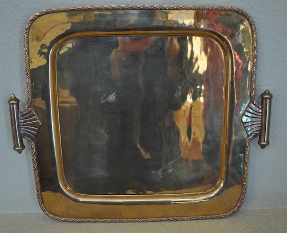 Vintage brass serving tray