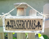 WEDDING SIGN, Washroom, Bathroom, Powder Room Sign, Wedding Decor, Reception