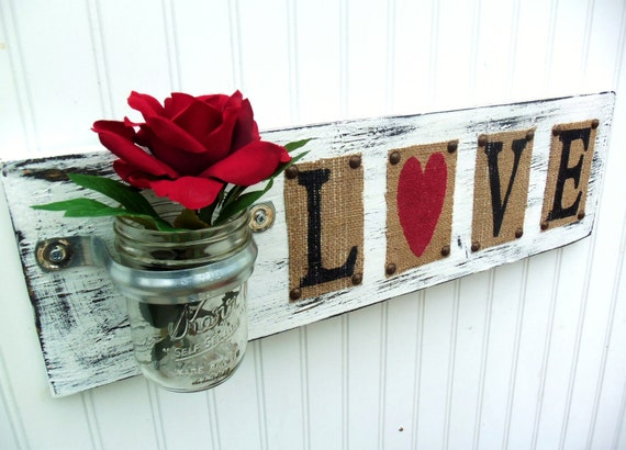 Wedding Sign LOVE, wedding flower holder, home decor