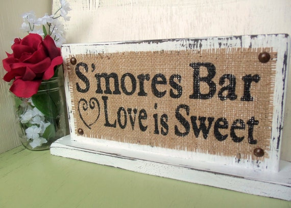 Smores Bar Love Is Sweet Reception Dessert Table