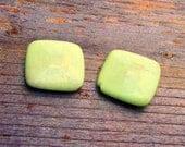 Lemon Chrysoprase Squares- 20mm (2)