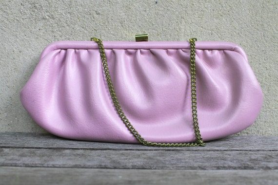 Vintage Pastel Purple Handbag, Prom Purse, Wedding Formal, Spring, Lavender Lilac, Womens Clutch, Faux Leather, Womens Gift