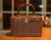 Vintage Lucite Handled Mini Case