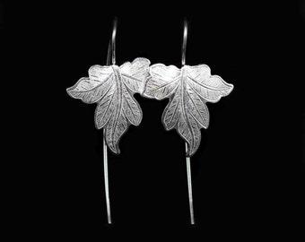 Sterling Silver Vine Leafs Earrings